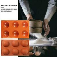 6/15/24 Half Sphere Ball Silicone Baking Mold Cake DIY Cube UK Mould Ice Q9I4