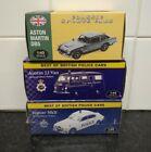 Atlas Editions lot of 3 inc Aston Martin jaguar police + police van 1:43 scale
