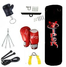 3ft Boxing Punch Bag Set Gloves Bracket Chain Kids Junior Children Toy Filled