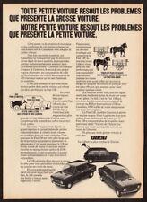 1972 FIAT 128 Vintage Original Print AD Black Station Wagon photo French Canada