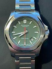Victorinox INOX Mens Quartz Watch 43mm - Green Dial - New