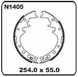 For Toyota Dyna 100 LH80 YH81 8/1987 onwards REAR Drum Brake Shoe SET N1405