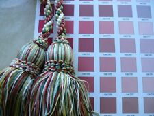 Scalamandre Double Tieback Red Green White Each