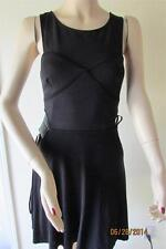 NWT BEBE FIT AND FLARE SIDE CUTOUT DRESS SIZE XS