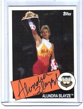 WWE Alundra Blayze 2015 Topps Heritage Authentic On Card Autograph