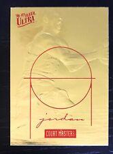 MICHAEL JORDAN 1996-97 FLEER ULTRA COURT MASTERS 23KT GOLD CARD - Limited