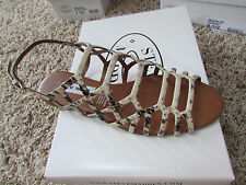 NEW STEVE MADDEN SERPA STRAPPY  SANDALS WOMENS 6.5 NATURAL SNAKE FREE SHIP