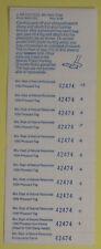 1996 Wisconsin Dnr Pheasant Hunting License Stamp Tag Sheet.Free Shipping!