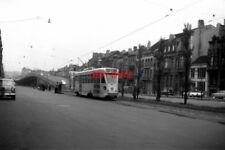 PHOTO  BELGIUM TRAM 1959 NR PLACE ROGIER SNCV STIB PCC TRAM  NO 7120 ON ROUTE 10