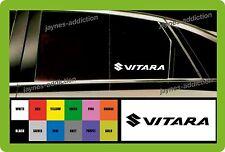 Para SUZUKI VITARA - 2 X Coche Decal Sticker - 145mm De Largo-Elección del Color!
