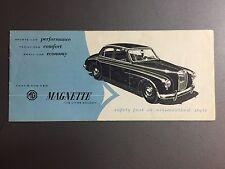 1955 MG Magnette Sedan Showroom Advertising Sales Brochure RARE!! Awesome L@@K