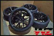 """Set of New 22"""" Aftermarket Hellcat Style Gloss Black Staggered Wheels w/ Tires!"""