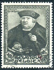 BELGIUM-1935 5f +5f Grey (Ex Mini Sheet Stamp) Sg MS688 FINE USED V36862