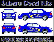 Subaru sticker kit  14 x vehicle stickers decals vinyl cut graphics Set 001