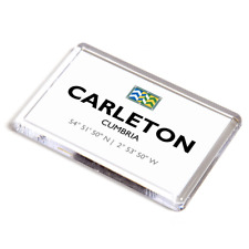 FRIDGE MAGNET - Carleton, Cumbria - Lat/Long NY4252