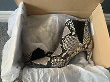 Zara Snake Print Boots - Size 4 (37) - BNIB