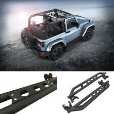 Fit 07-18 Jeep Wrangler JK Unlimited 2 Door Black Textured PairSet Nerf Bar Step