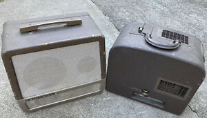 Vintage B&H Bell Howell 16mm Filmosound 185 Projector and Extension Speaker