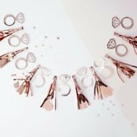 Rose Gold Team Bride Ring Tassel Garland Bunting Hen Party Decoration Engagement