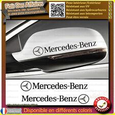 2 Stickers Autocollant mercedes benz retroviseur decal glass sponsor renovation