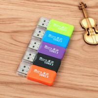 Portable TF Card Reader Mini USB 2.0 TF Memory Card Reader Adapter
