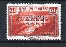 "FRANCE STAMP TIMBRE 262B "" PONT DU GARD 20F DENTELE 11 PERFORE ""OBLITERE TB P867"