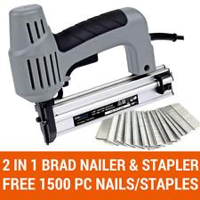 2 IN 1 BRAD NAILER & STAPLER ELECTRIC COMBINATION STAPLE GUN FREE 1500PC NAIL