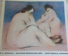 "RC Gorman ""Red Ribbon""  By Navajo Artist,  Native American Women 22 X 25"