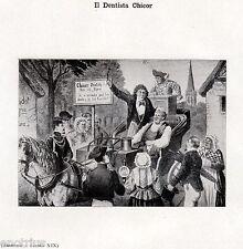 IL DENTISTA CHICOR TOGLIE I DENTI SUL CARRO. Dentiste. Dentist. Zahnarzt. 1929