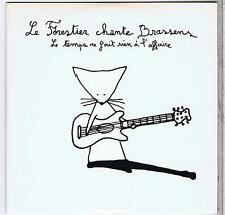 CD SINGLE PROMO LE FORESTIER CHANTE BRASSENS LE TEMPS NE FAIT RIEN A L'AFFAIRE