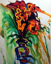 """Salvador Dali """"Gala's Bouquet"""" Hand Signed Lithograph on Japon  Make An Offer!"""