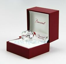 BACCARAT GALET RING CLEAR CRYSTAL SIZE 57 NEW MADE IN FRANCE ORIGINAL BOX