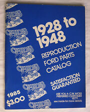 Ford Replacement Auto Parts Catalog 1928 through 1948 by CW Moss Printed 1985