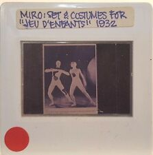 "JOAN MIRO ""Jeu D'Enfants"" Costume Art 35mm Picture Slide"