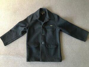 BLUEY Wool Jacket Pea Coat Trench Australian Made MEDIUM