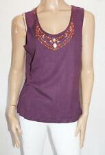 Millers Brand Plum Beaded Neck Tank Top Size 18 BNWT #SZ109