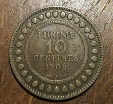 PIECE DE 10 CENTIMES 1908 TUNISIE (22) 500000 EXEMPLAIRES SEULEMENT