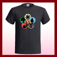 MAGIC THE GATHERING MTG Cards Mana Logo NEW Men's Black T-Shirt S M L XL 2XL 3XL