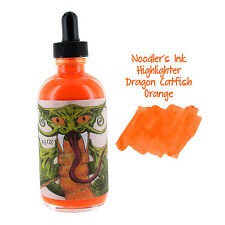Noodler's Ink Bottled Ink, 4.5 oz. w Free Pen, Highlighter Dragon Catfish Orange