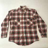 Vintage Sears Roebuck Plaid Flannel Shirt Size Small