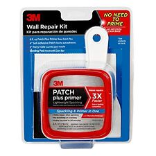 3M Patch Plus Primer Kit with 8-Fluid Ounce Self-Adhesive Patch, Putty Knife and