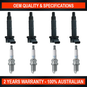 SWAN Ignition Coils & NGK Spark Plugs for Toyota Tarago ACR30 (2.4L)