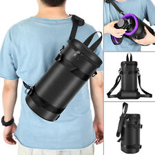 Neewer 5.9x11.8 inch Deluxe Padded Camera Lens Pouch Case with Sling Belt Strap