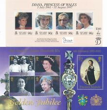 Pitcairn Islands - Two souvenir sheets - Queens golden jubilee and Diana