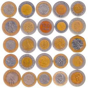 20 BI-METALLIC COINS. MIXED VALUABLE MONEY COLLECTION, VARIOUS WORLD COUNTRIES