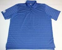 Mens Under Armour HeatGear Golf Short Sleeve SS Polo Shirt XL Striped Blue White