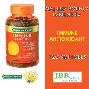 Nature's Bounty Immune 24 Hour + Immune Softgels,1000mg Vitamin C 120 Exp.11/22