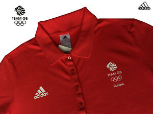 ADIDAS TEAM GB ISSUE FEMALE ATHLETE PRESENTATION POLO SHIRT Size 14  38""