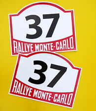 VINTAGE style Classic Car MONTE CARLO RALLY RACE NUMBERS ideal for MINI COOPER