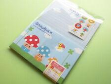 Cute Champignon/Mushroom Letter Set - 12 Sheets / 6 Envelopes - New!
